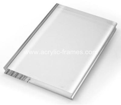 Clear acrylic block with finger groove