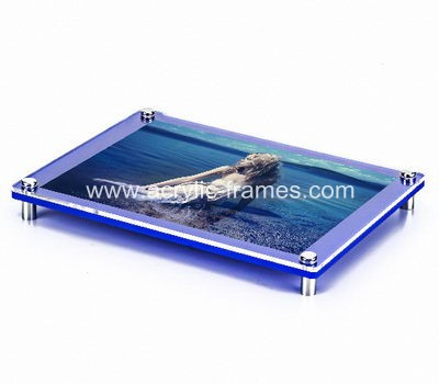 Acrylic floating poster frame