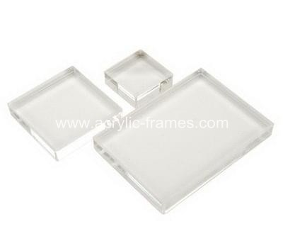 Acrylic blocks for stamping