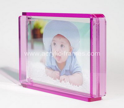 Clear plastic picture frames