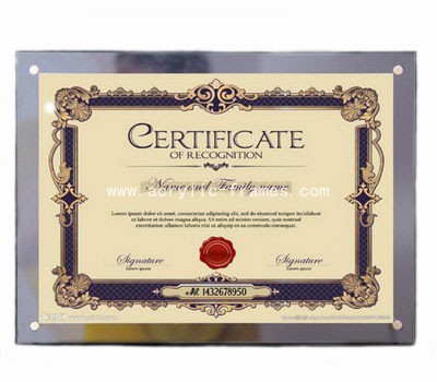 wall mounted certificate frames