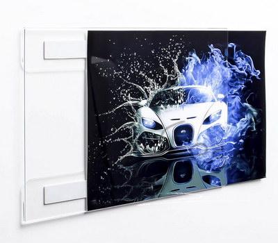 Acrylic frame wall mount